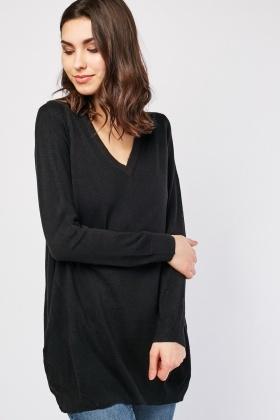 Fine Knitted V-Neck Sweater £5.00
