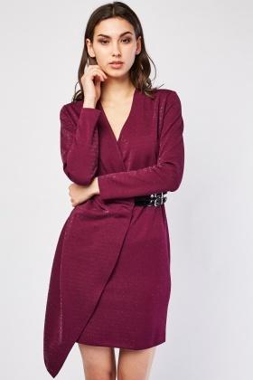 Lurex Buckle Front Wrap Dress £5.00