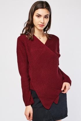 Wrap Front Knit Jumper £5.00