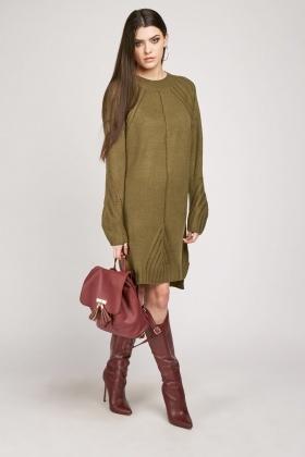 Chunky Knit Jumper Dress