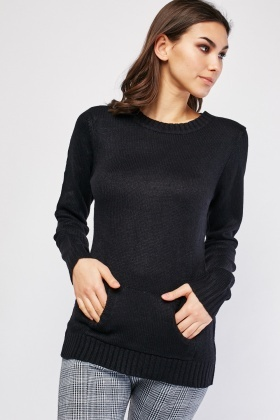Pouch Pocket Front Knit Jumper