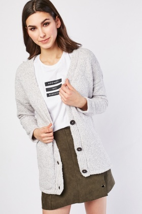Slouchy Chenille Knit Cardigan