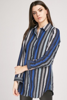 Striped Casual Cotton Shirt