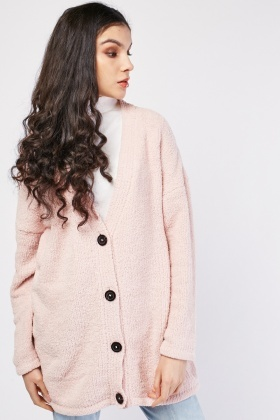 Button Front Soft Knit Cardigan