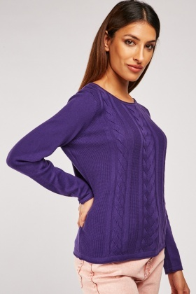 Cable Knitted Basic Jumper