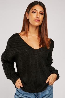 Chunky Twisted Back Knit Jumper