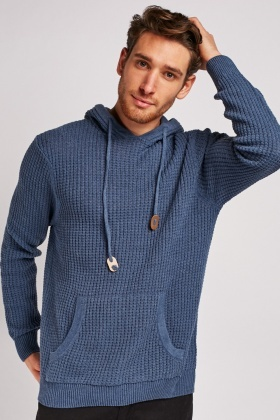 Long Sleeve Hooded Knit Jumper