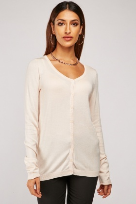 Open Neck Front Knit Cardigan