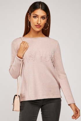Open Neck Knit Pullover
