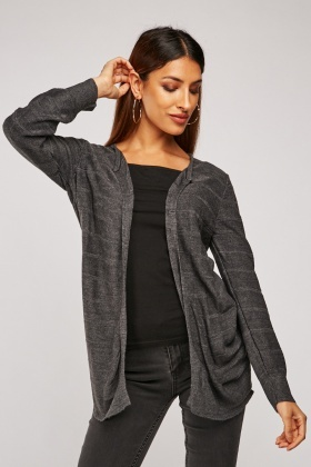Panelled Knit Cardigan