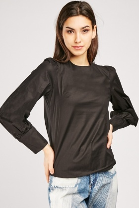 Puffy Bishop Sleeve Blouse