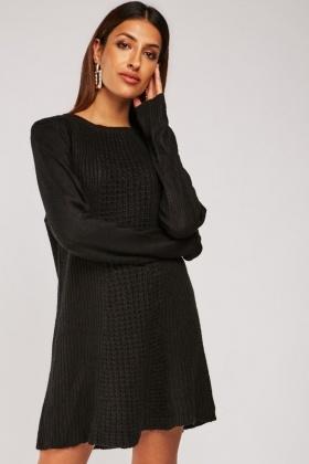 Textured Knit Chunky Jumper Dress