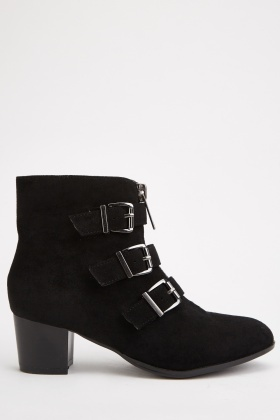 Buckled Side Ankle Boots