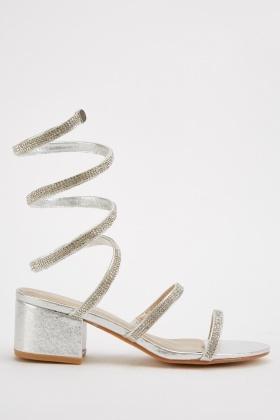 Coil Spring Effect Block Heels