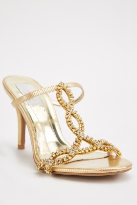 Encrusted Criss Cross Heels