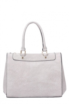 Faux Leather Grey Tote Bag