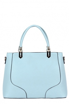 Light Blue Textured Tote Bag