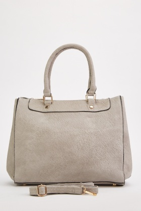 Light Grey Textured Handbag