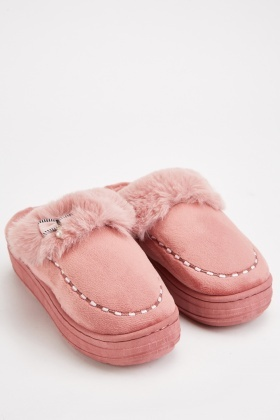 Slip On Fluffy Indoor Slippers
