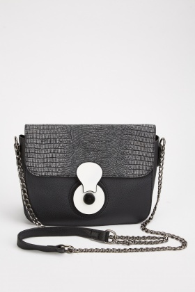 Textured Chain Strap Bag
