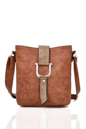 Textured Cross-Body Shoulder Bag