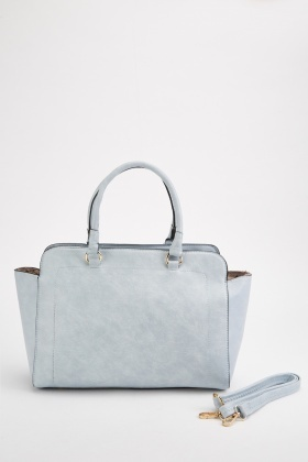 Textured Double Handle Wingtip Bag
