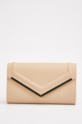 Textured Envelope Clutch Bag