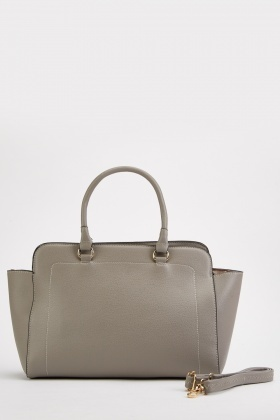 Textured Grey Wingtip Bag