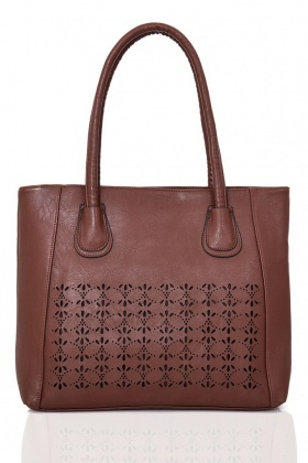 Textured Laser Cut Tote Bag