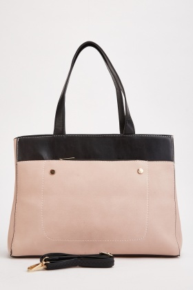 Two-Tone Contrast Handbag