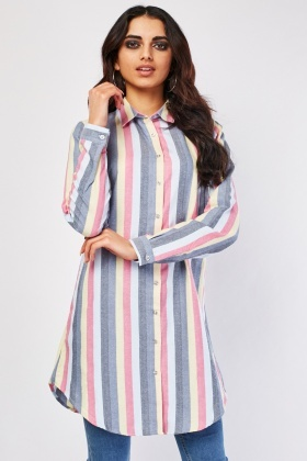 Candy Striped Long Shirt