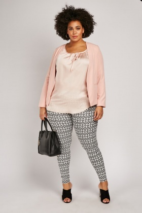 Love Heart Print Trousers
