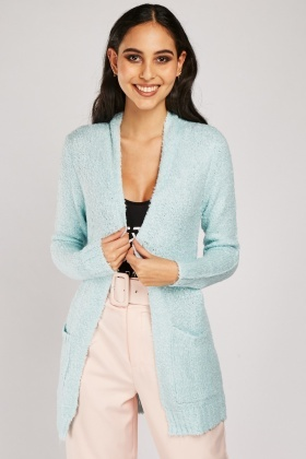 Long Line Bobble Textured Cardigan