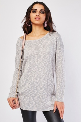 Speckled Knitted Sweater