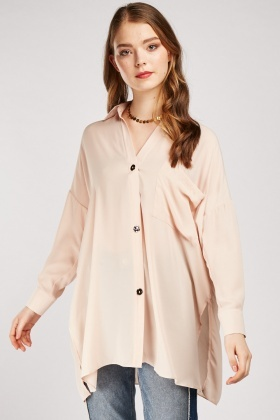 Slouchy Oversized Silky Shirt