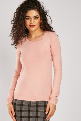 Fine Knit Plain Sweater