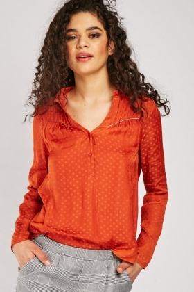 Polka Dot Sateen Blouse