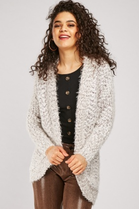 Textured Eyelash Knitted Cardigan