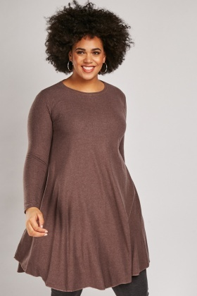 Speckled Midi Flared Dress