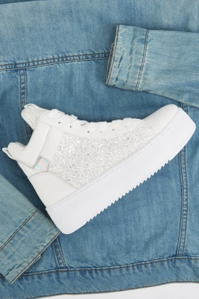 High Top Glitter Trainers