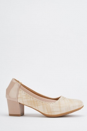 Scattered Pattern Block Heels