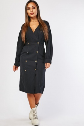 Double Breasted Utility Dress