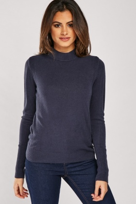 Button Trim Knit Top