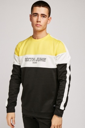 Colour Block Panel Sweatshirt