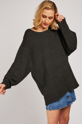 Chunky Charcoal Knit Jumper