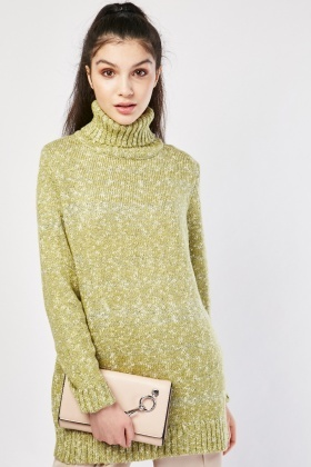 Chunky Roll Neck Speckled Jumper
