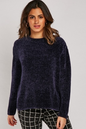 Long Sleeve Chenille Knit Jumper