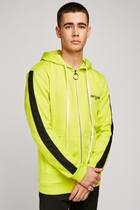 Zip Up Lime Hooded Jacket