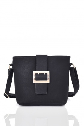 Buckle Front Cross-Body Bag