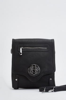 Detailed Front Messenger Bag
